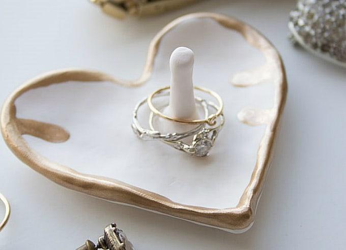 heart ring holder dish