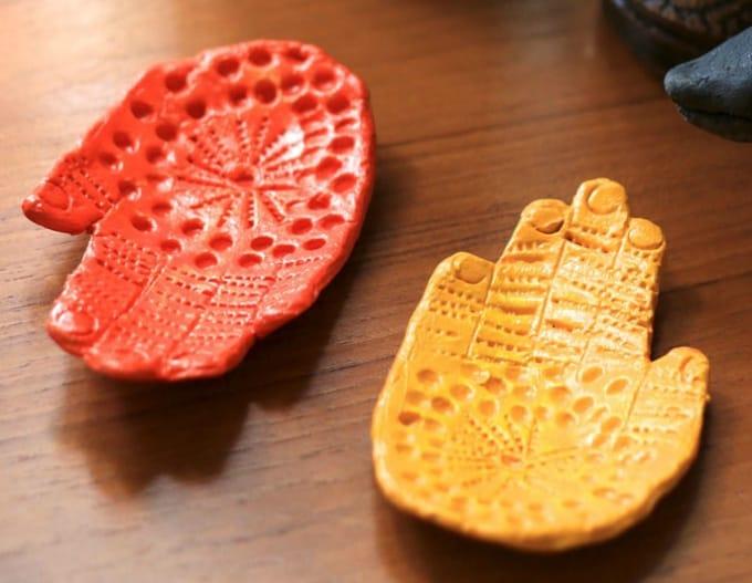 ceramic hand dish