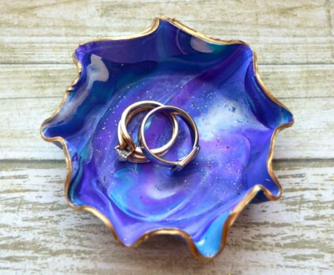 marble clay jewelry dish