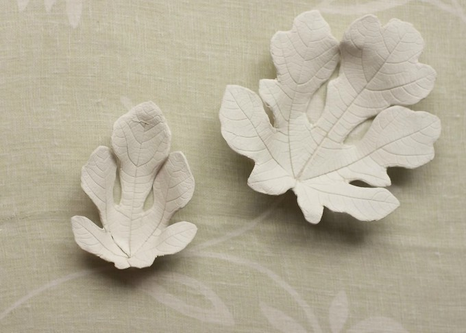 clay leaf bowls