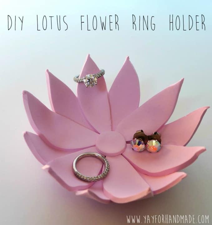 lotus flower ring holder