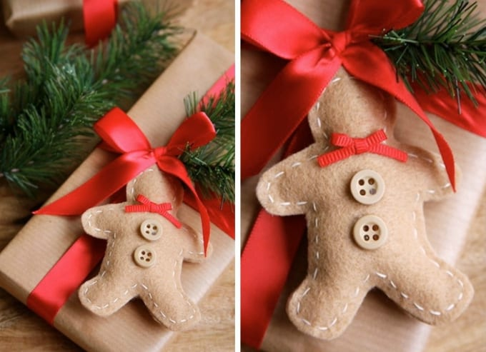 Beautiful Christmas Felt Craft Ideas Part - 6: Felt Gingerbread Man