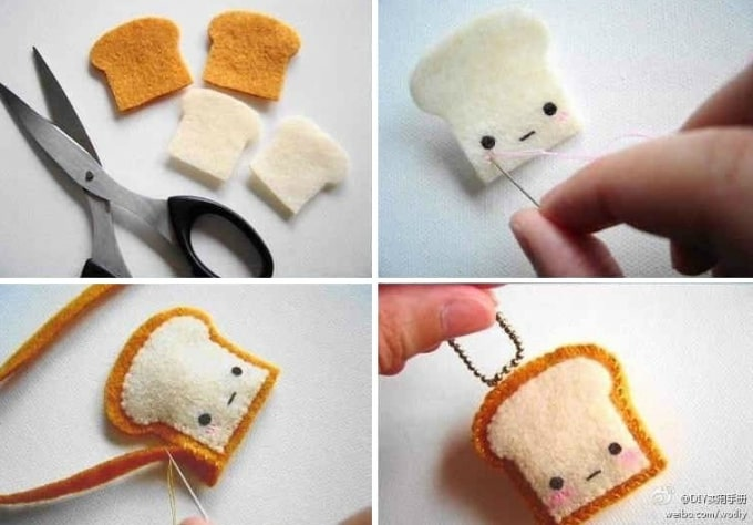 Felt Craft Ideas For Christmas Part - 41: Felt Toast Man
