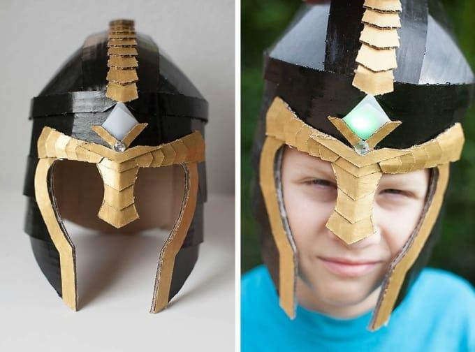 cardboard helmet mask