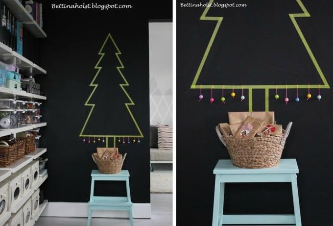 Washi tape christmas tree design