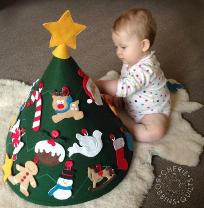 Attractive Christmas Felt Craft Ideas Part - 5: Felt Christmas Tree