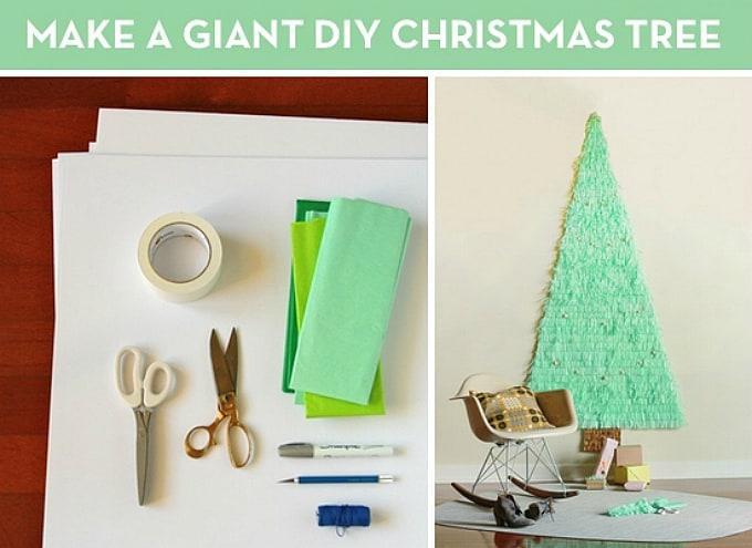 giant diy christmas tree