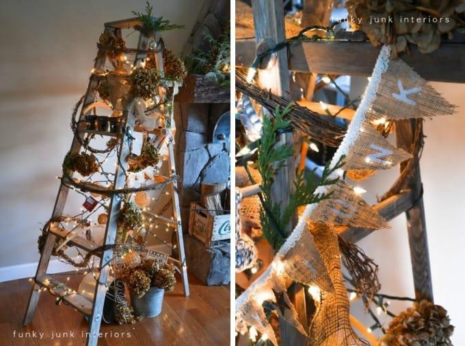 treeless ladder christmas tree