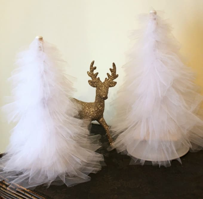 tulle Christmas trees