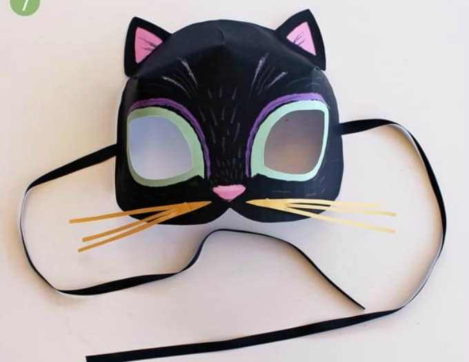 Paper Black Cat Mask  Paper Face Mask Template