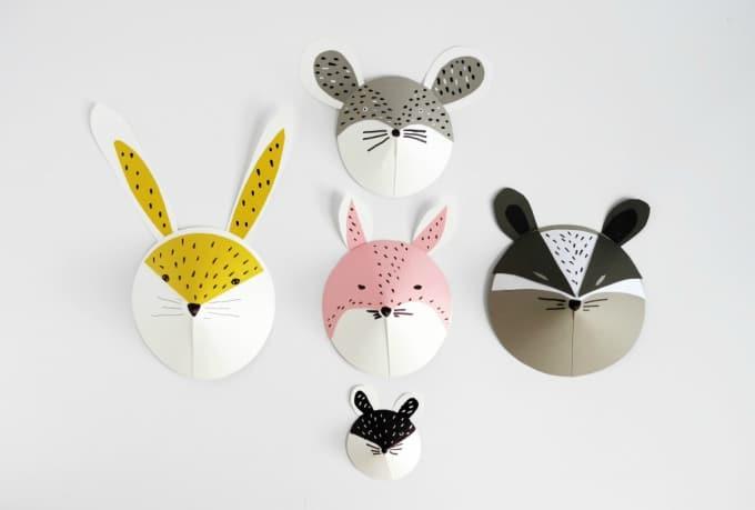 kids paper masks
