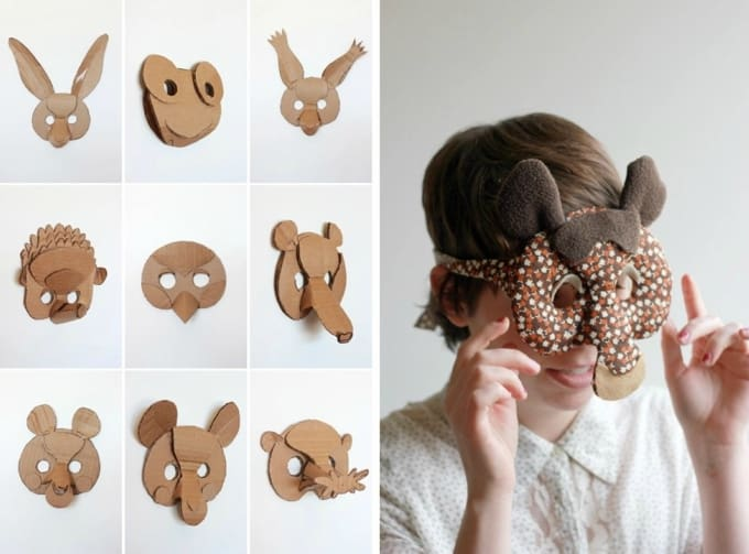 30 diy paper mask design ideas cool crafts animal masks pronofoot35fo Images