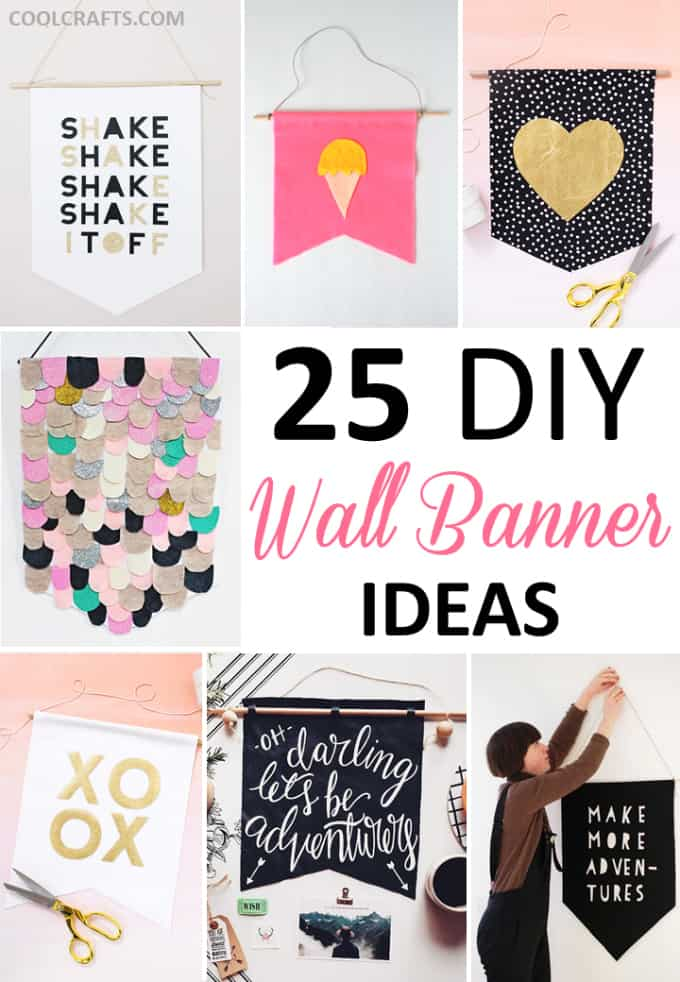 25 DIY Wall Art Decor Ideas • Cool Crafts