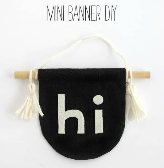 mini DIY wall banner for baby's space