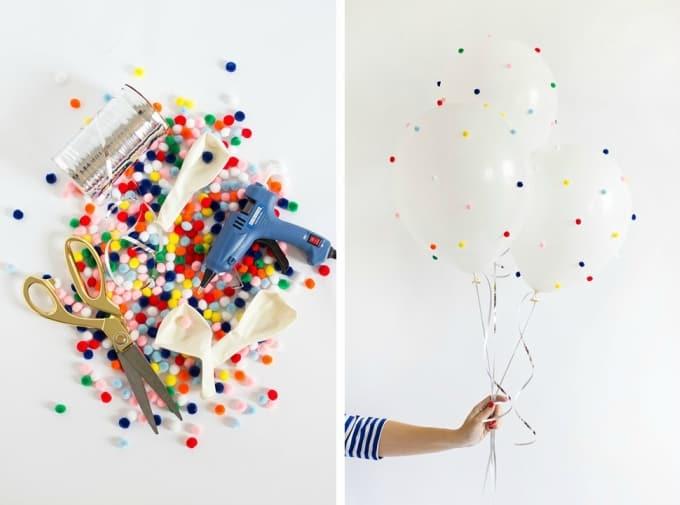 pom-pom balloons