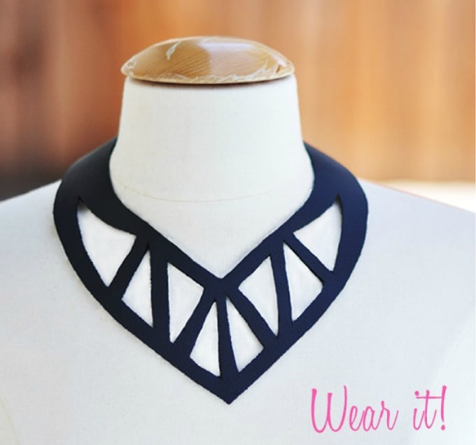 diy cut out collar