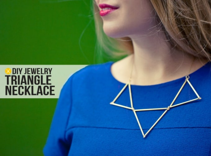 diy jewelry triangle necklace