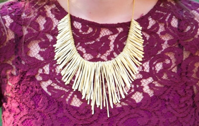 anthropologie knock off collar necklace