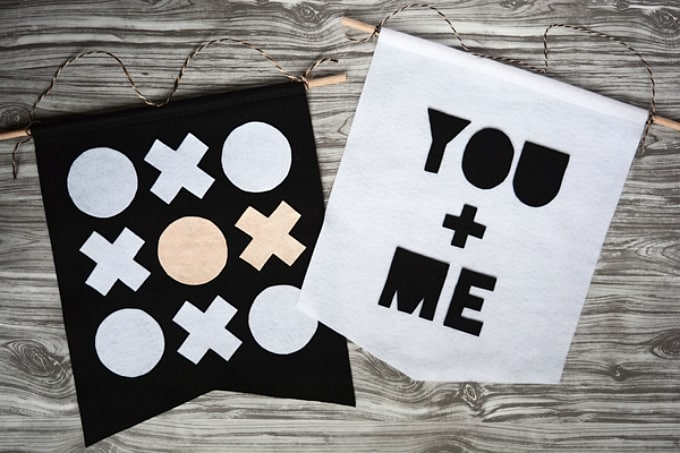 DIY valentines wall banners