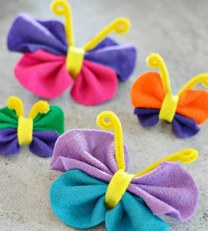 Butterfly Craft Ideas For Kids Part - 35: No Sew Felt Butterfly Crafts