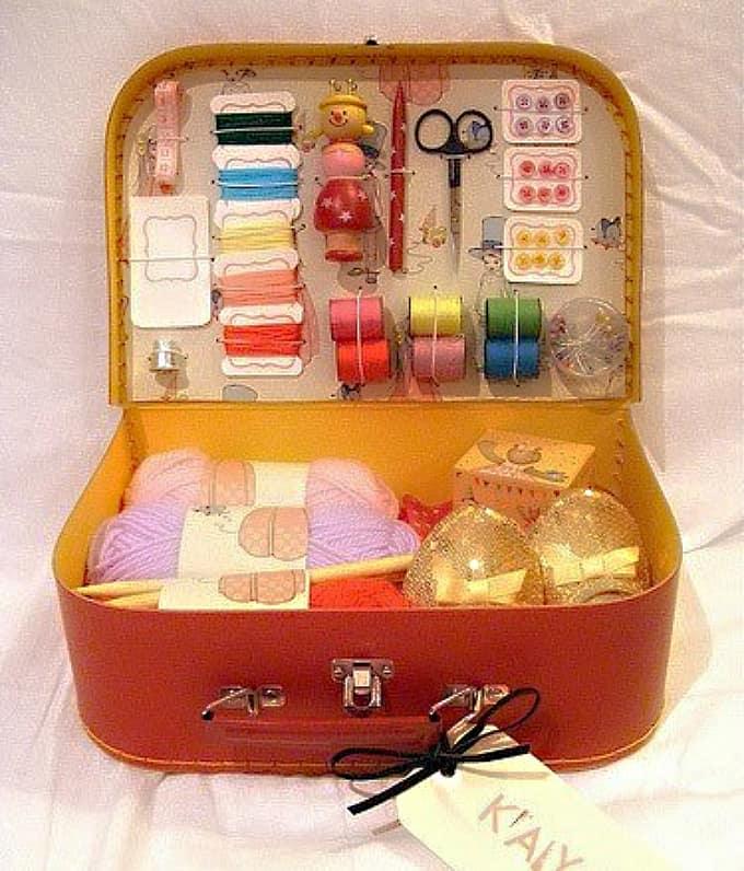 suitcase sewing kit