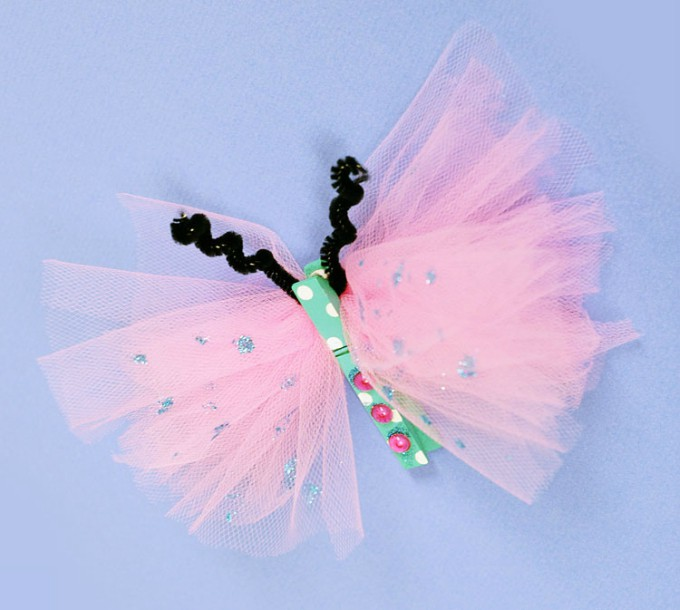 kids craft clothespin butterfly