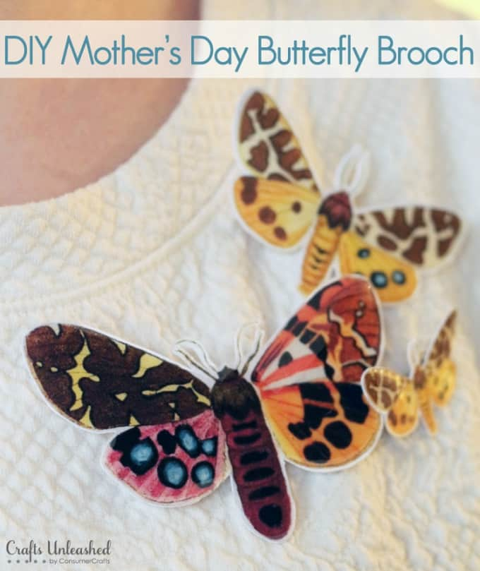 diy mother's day butterfly brooch