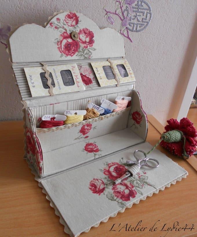 DIY fold-up sewing kit