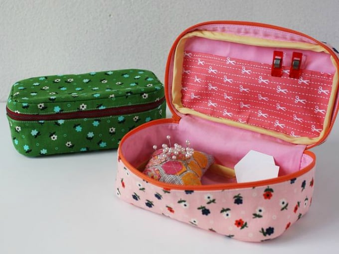 material case sewing kit