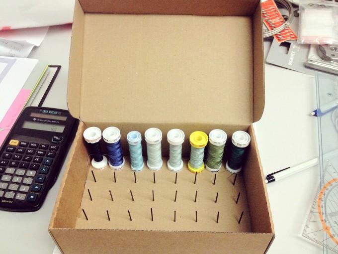 thread spool sewing box