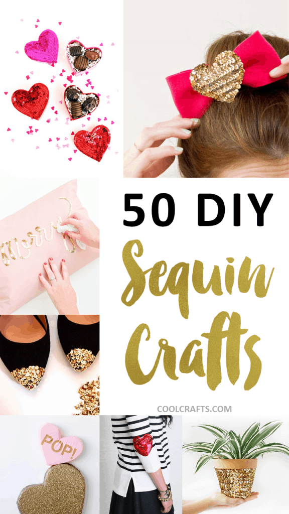 50 Glittery Crafts to Make With Sequins