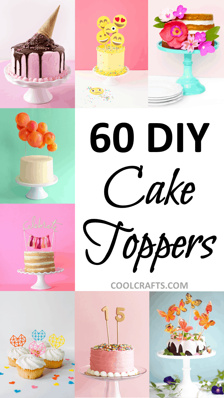 Cake toppers 60 festive ways to top your cake cool crafts diy cake toppers jeuxipadfo Choice Image