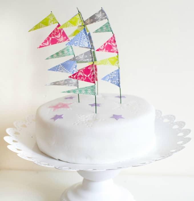festival flag cake topper