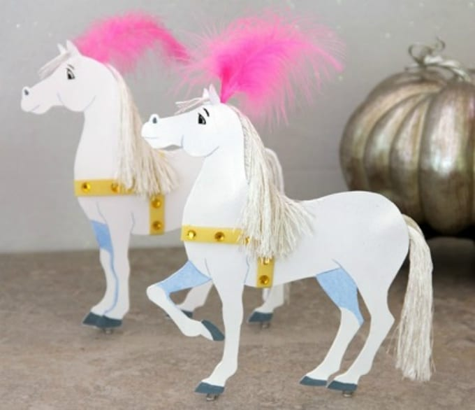 40 diy horse craft ideas to inspire your creativity cool crafts cinderella paper coach horses solutioingenieria Choice Image