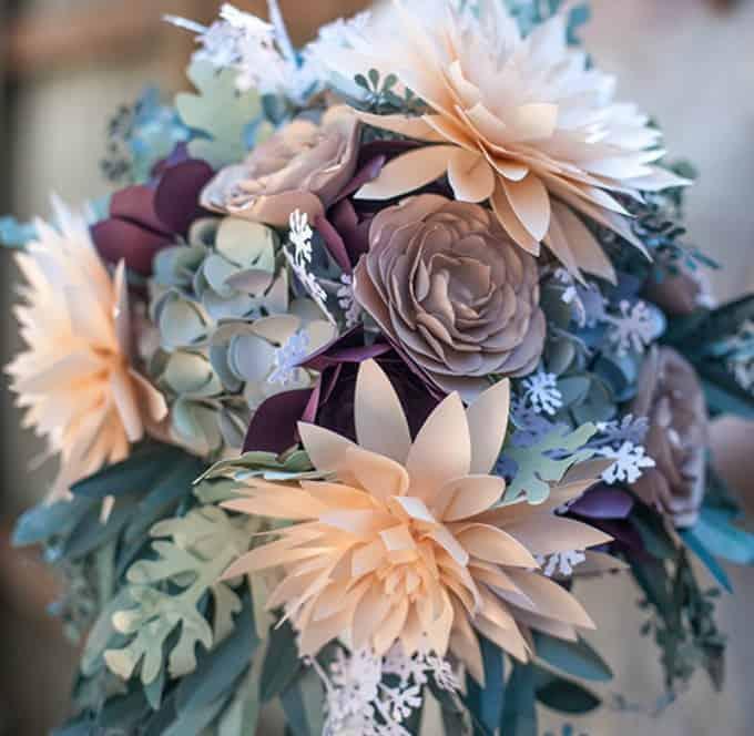 rustic paper bridal bouquet