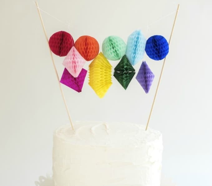 honeycomb paper cake topper