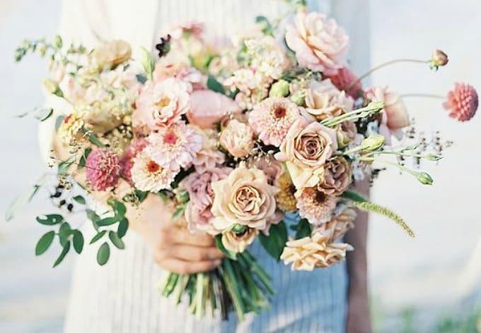 garden inspired wedding bouquet