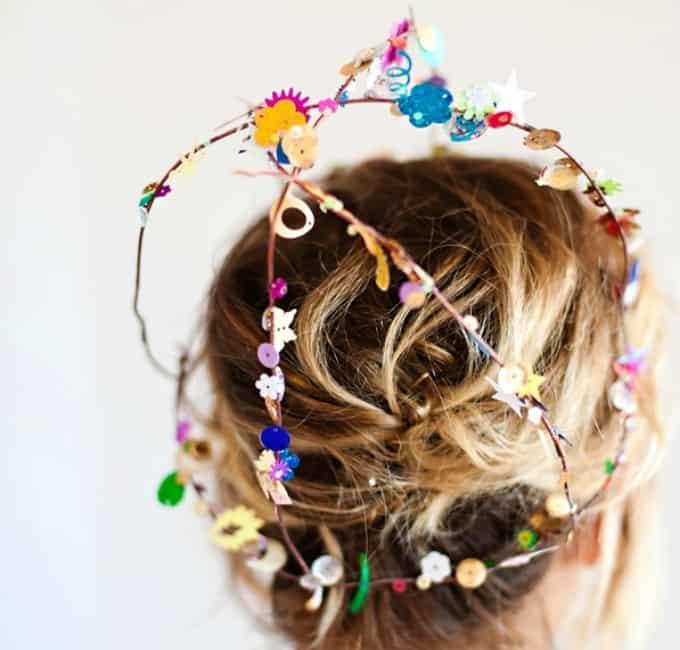 confetti sequin crowns