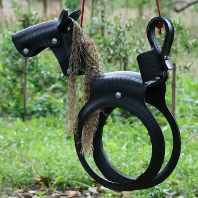 horse tire swing