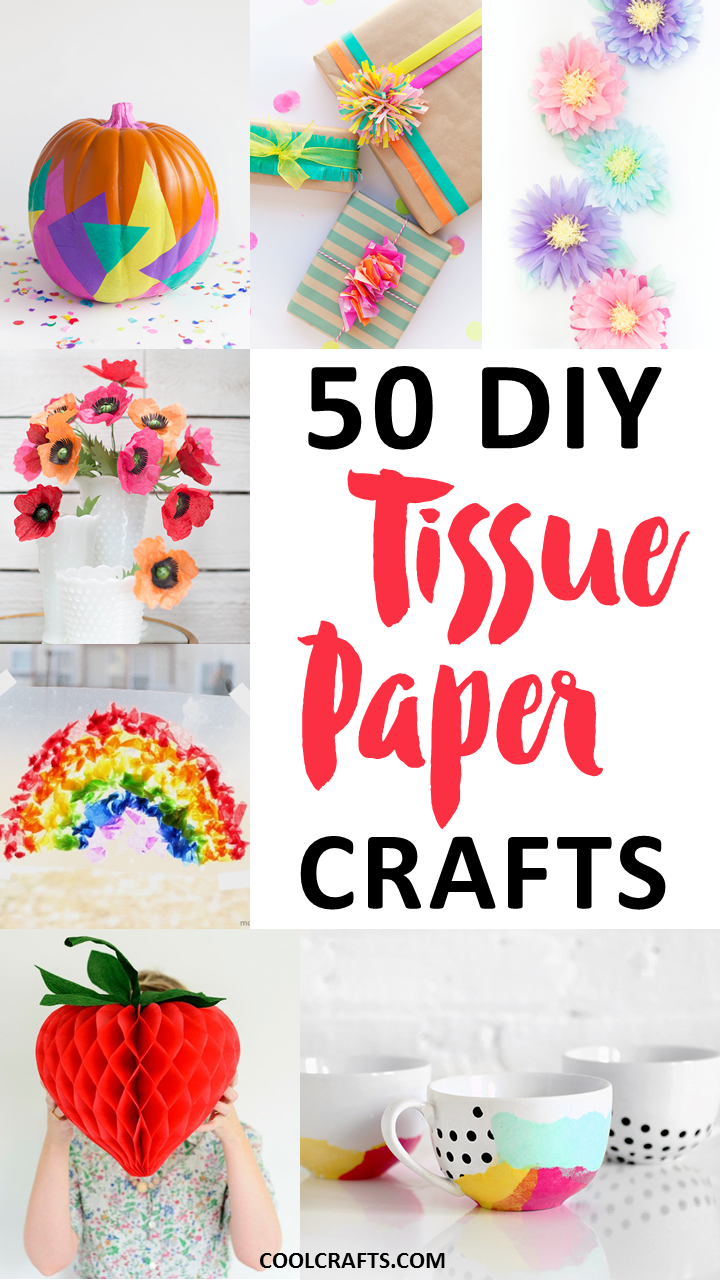 Tissue paper crafts 50 diy ideas you can make with the for How to make craft