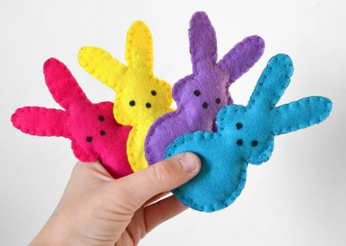 bunny-shaped catnip pouches