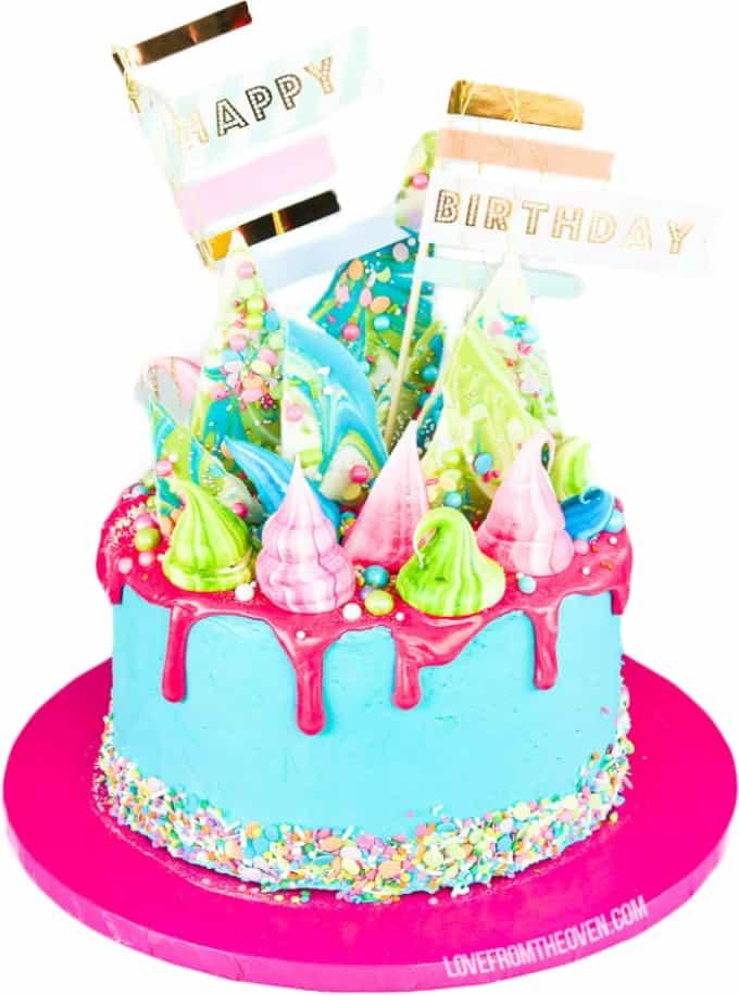 Dripping Cake For Kids Birthday