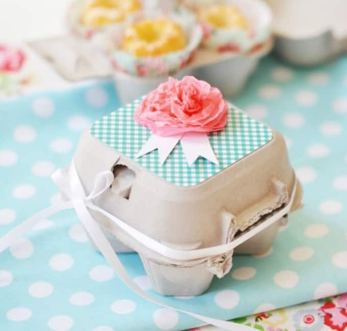 egg carton cupcake box