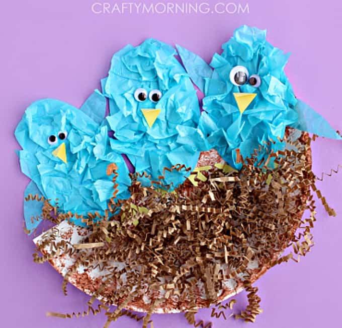 tissue paper blue birds