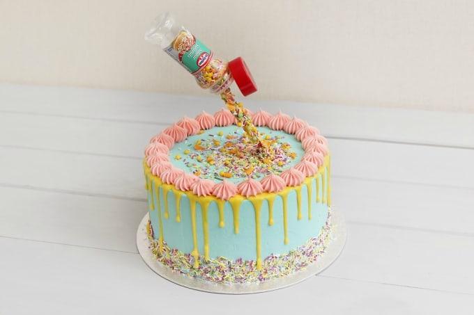 gravity drip cake