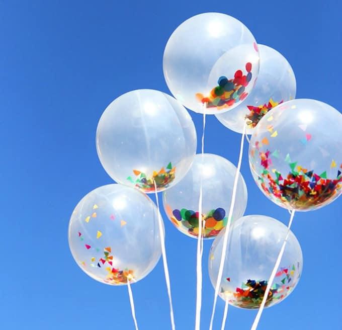 confetti-inspired balloons