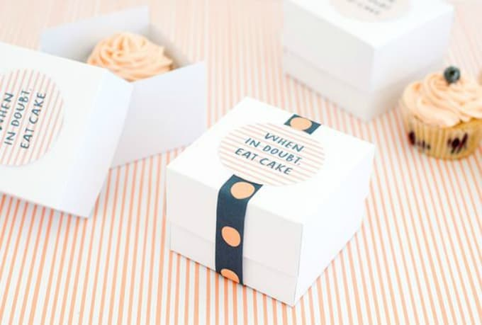 Cake Box Template Printable
