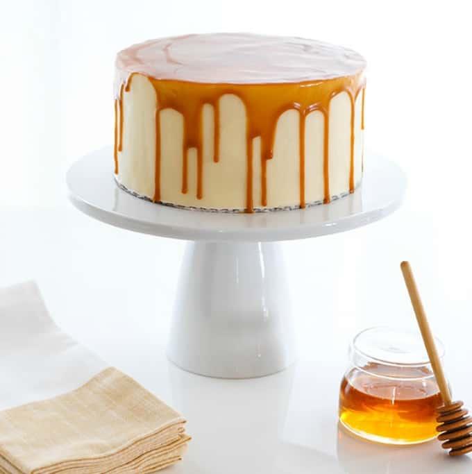 honey butter drip cake