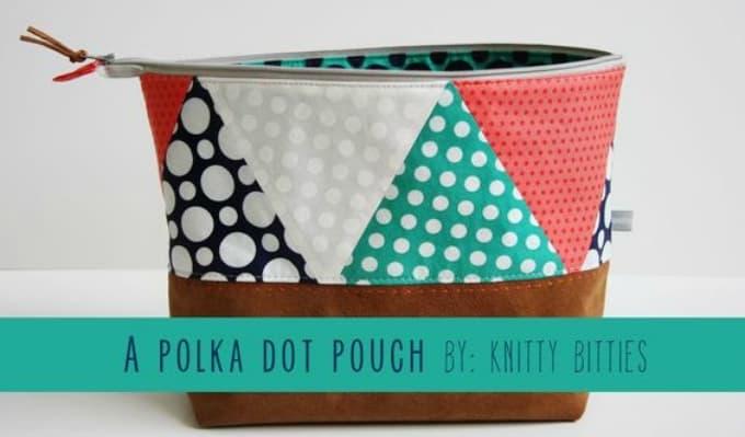 DIY polka dot pouch