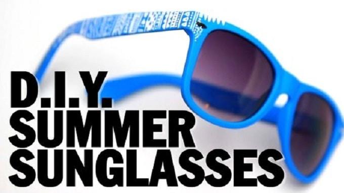 DIY summer sunglasses